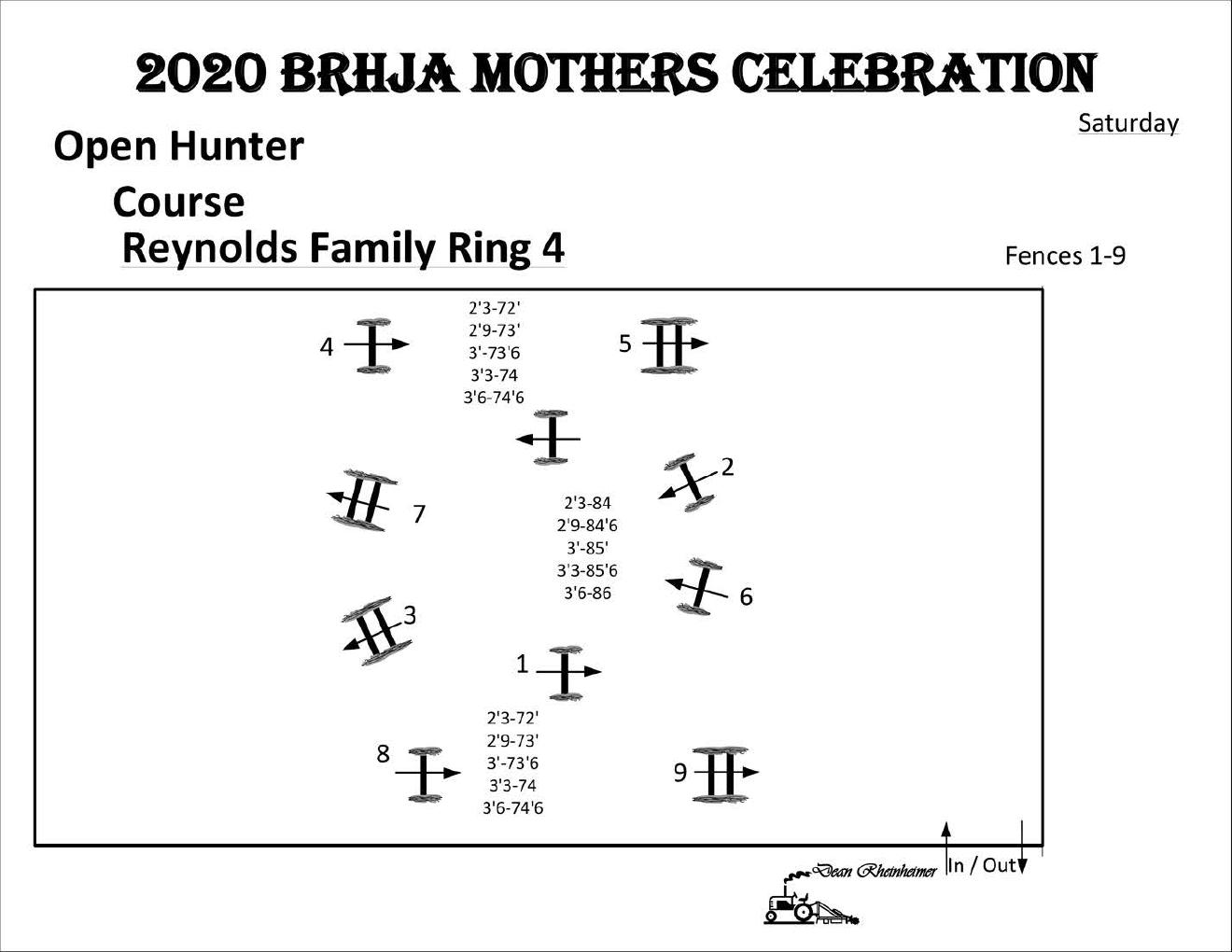 SingleOxer.com BRHJA Mothers Celebration Saturday 5-30 Ring4 Open Hunter